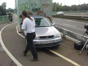"""Polizei PKW in zivil blockiert """"Radweg"""""""