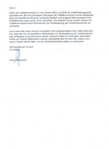 Antwortschreiben des Amts für Straßen und Verkehrstechnik 2/2