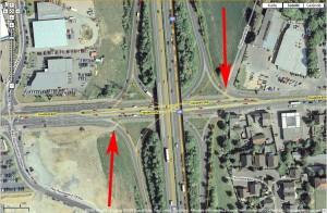 Satellitenbild der Anschlußstelle Wahn. Bild (Montage): Google