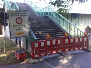 Sanierung Mülheimer Brücke - Treppenaufgang Südseite