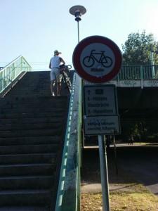 Sanierung Mülheimer Brücke - Treppenaufgang Nordseite