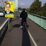 FDP Wahlwerbung im Verkehrsraum