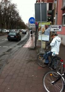 Radweg Ende