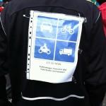 Nachvollziehbare Aussagen auf Radfahrerrücken