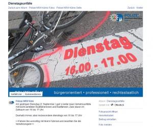 Dienstag! (Screenshot: Facebook Polizei Köln)
