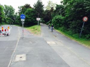 Sperrung für den Radverkehr