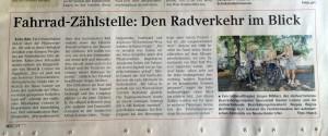 Der Zählmeister in der Zeitung!